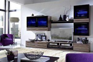 Красивая мебель в гостиной из модулей