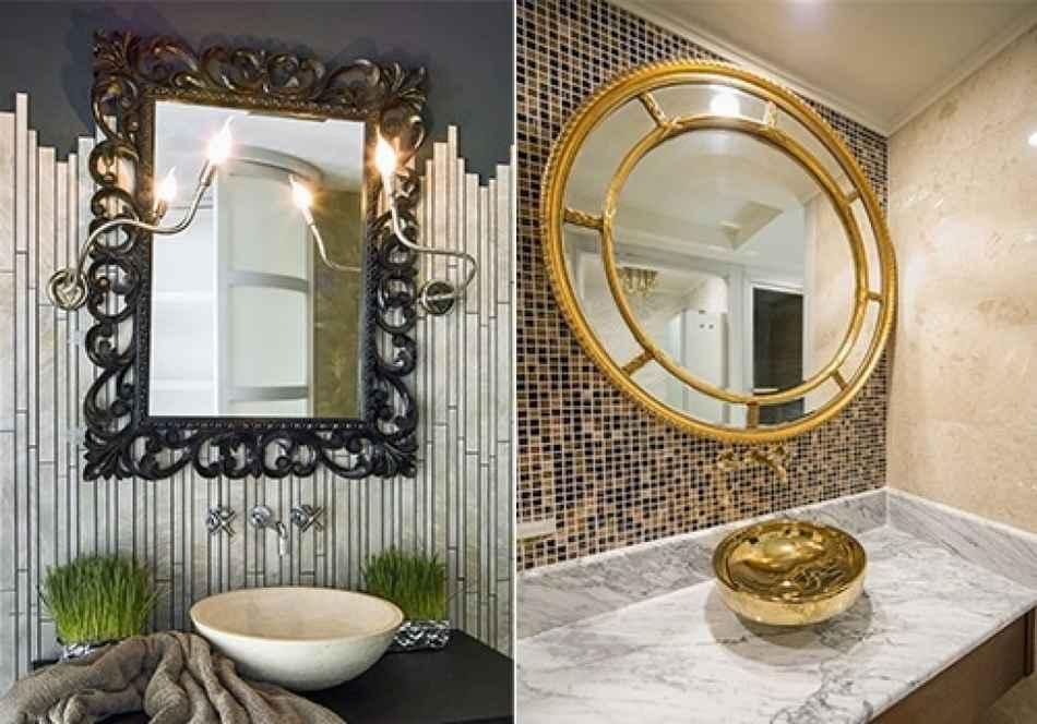 Красивые зеркала в интерьере квартир