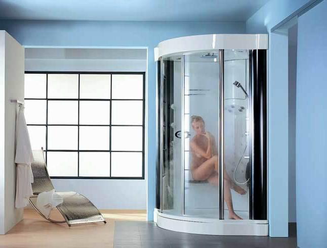 Установка душевой системы скрытого типа в ванной