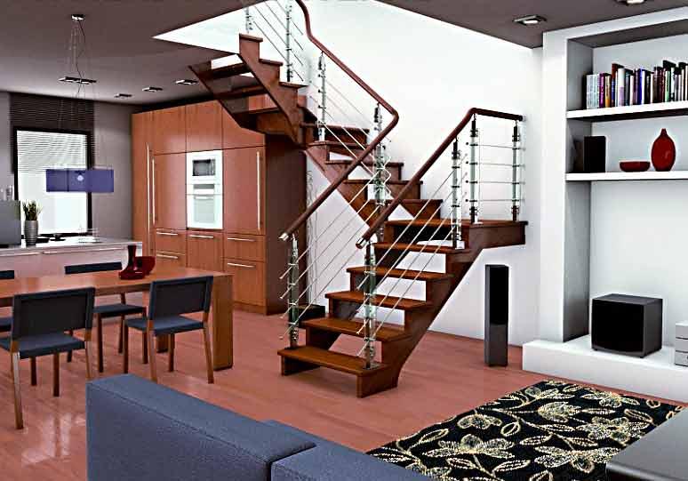 Интерьер лестницы в частном доме фото