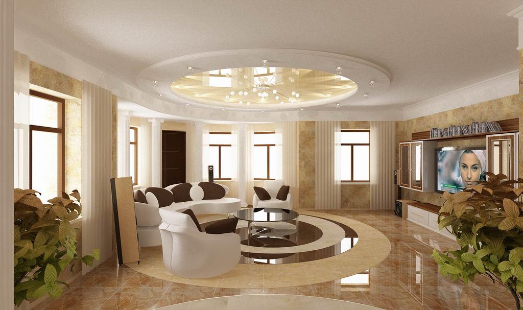 круглая мебель в интерьере