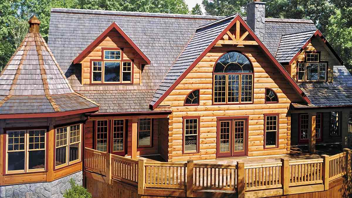 Шикарный дом из дерева