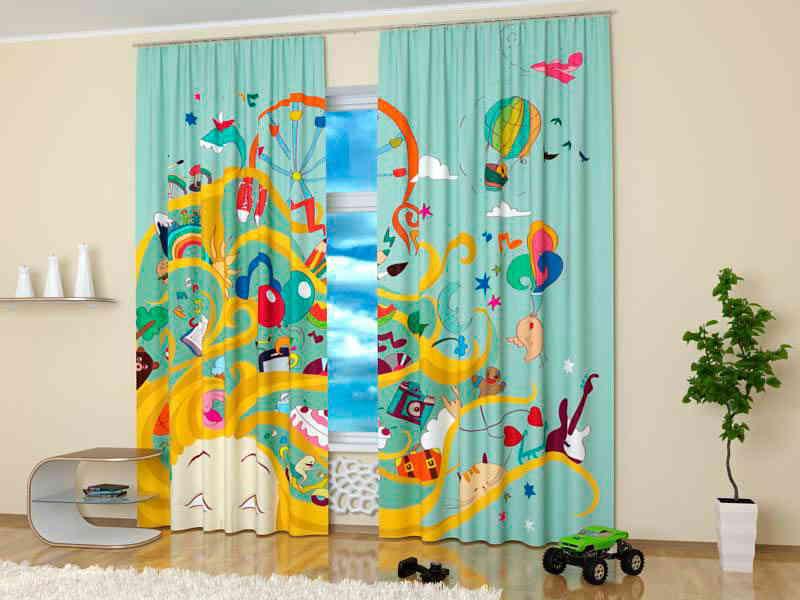 Выбор красивых штор в детскую комнату