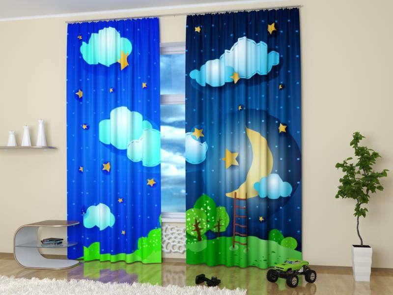детские шторы в спальню