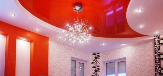 популярные виды отделки потолка