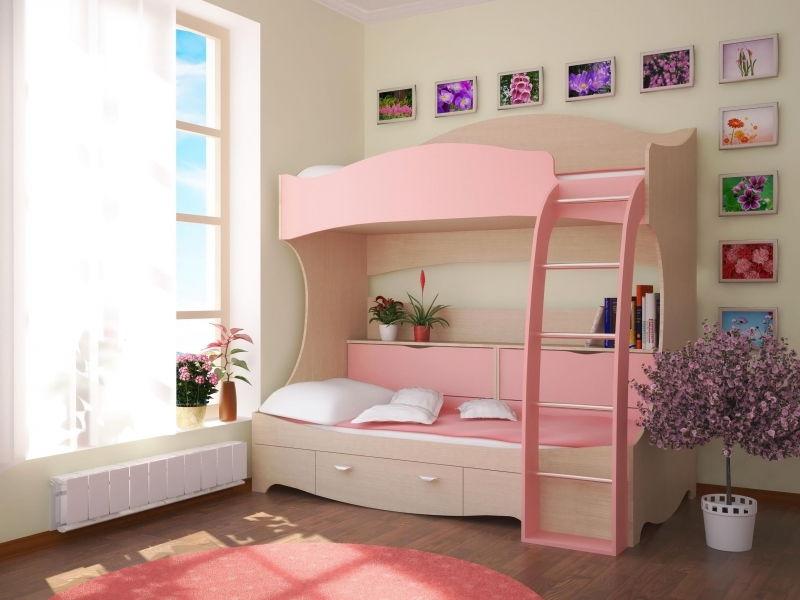 нежный дизайн кровати