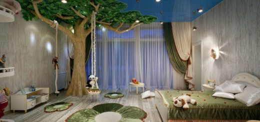 Сказочный дизайн детской комнаты