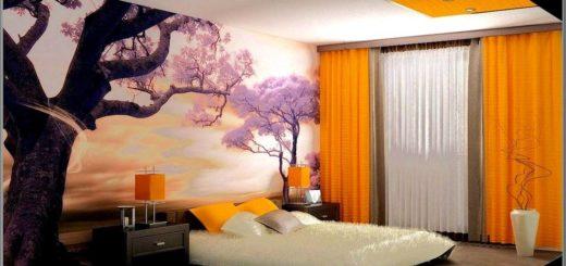 Идея оформления дизайна спальной