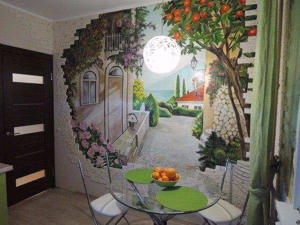 Декор кухонной стены