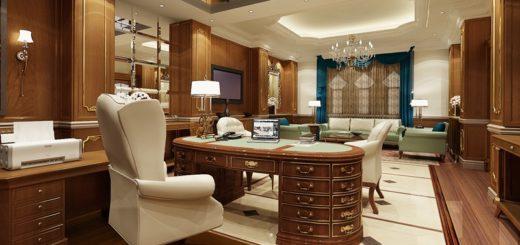 шикарный кабинет в доме