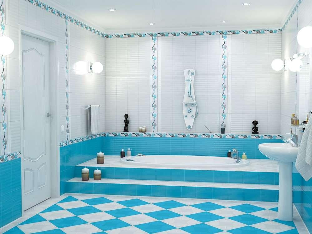 кафельная плитка на пол в ванной