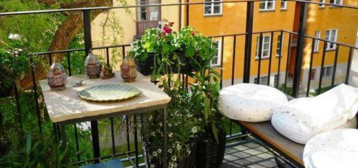 Креативный дизайн интерьера балкона