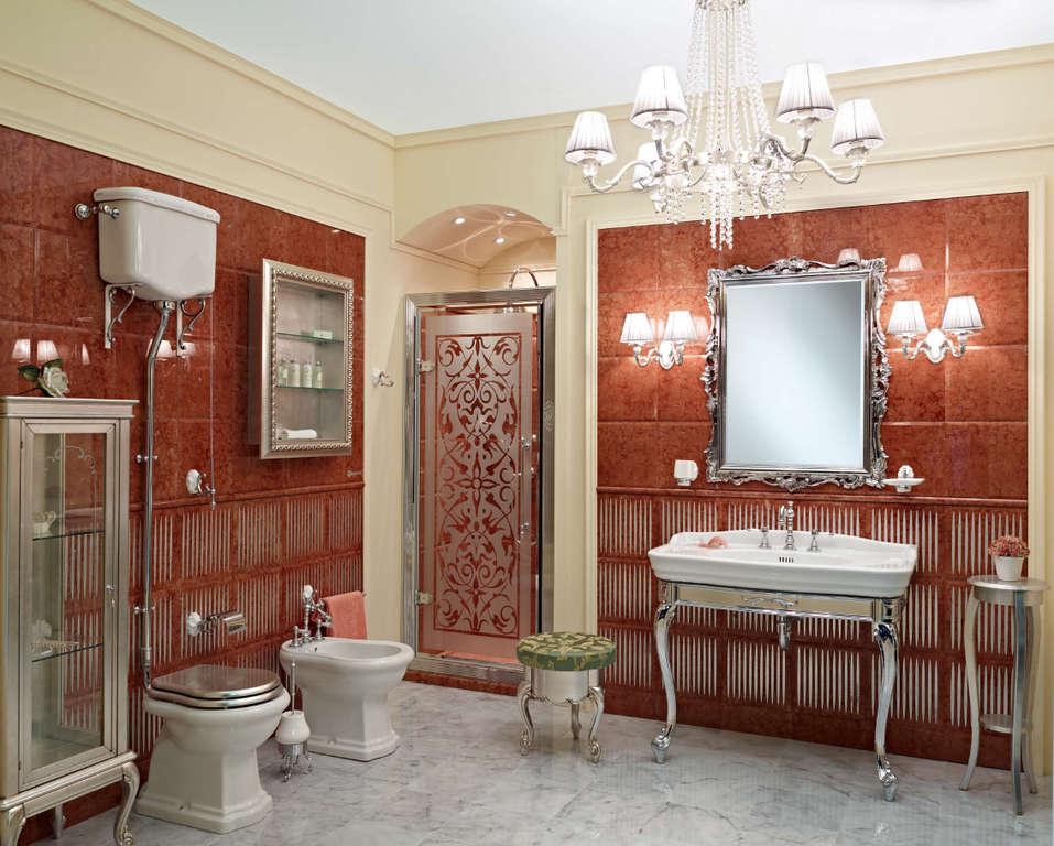 Ванна и подвесные тумбы в ванную
