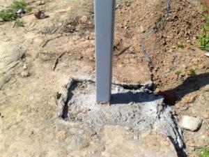 опорные столбы для ограды