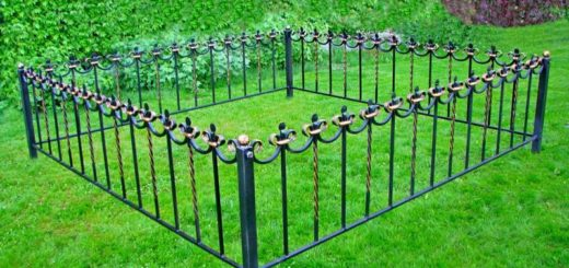 опорные столбы для ограды фото