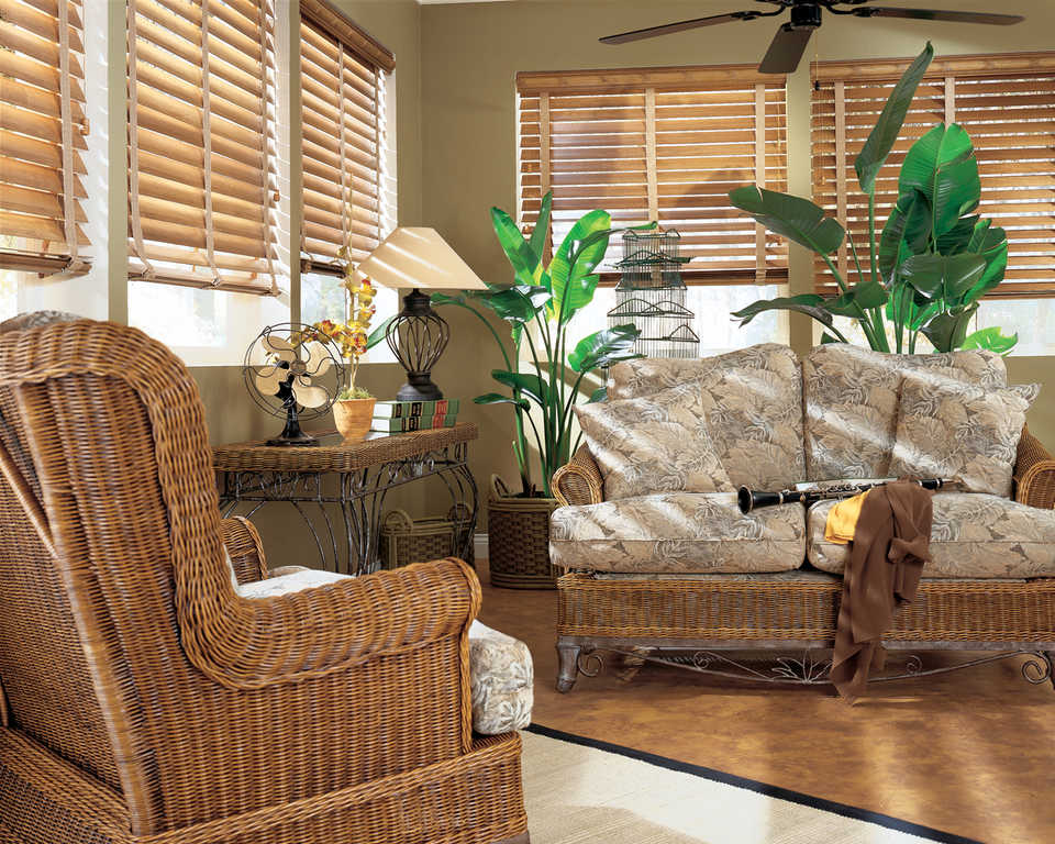 Жалюзи из бамбука в интерьере