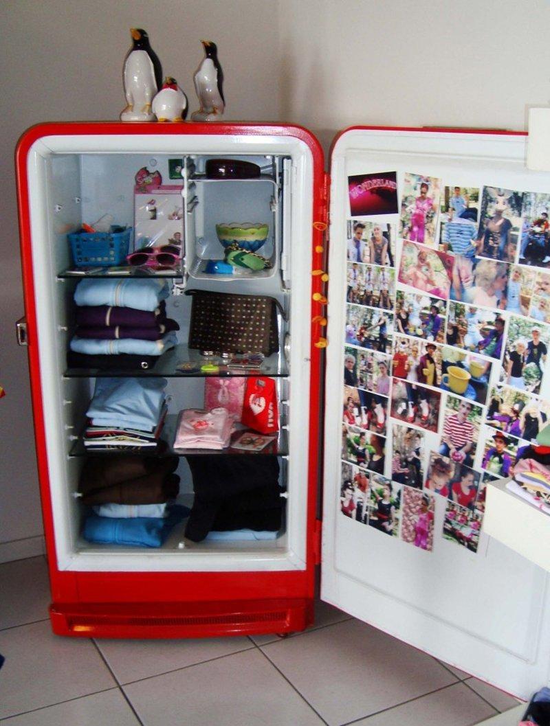 Шкаф для дачи из старого холодильника