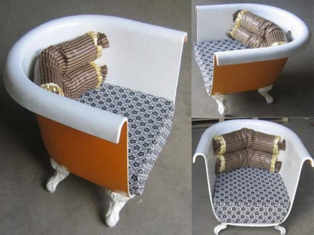 Кресло из старой ванны