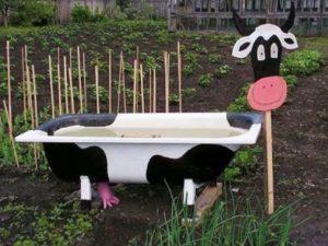 Новая жизнь старой ванны на даче