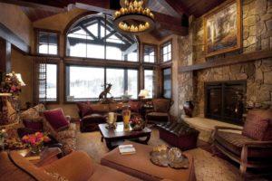 Красивый дизайн интерьера в стиле кантри