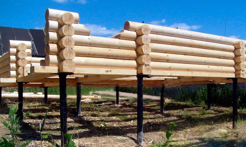 деревянные сваи для фундамента