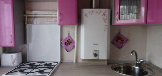 шикарный дизайн кухни с колонкой