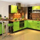 оригинальный дизайн шестиметровой кухни