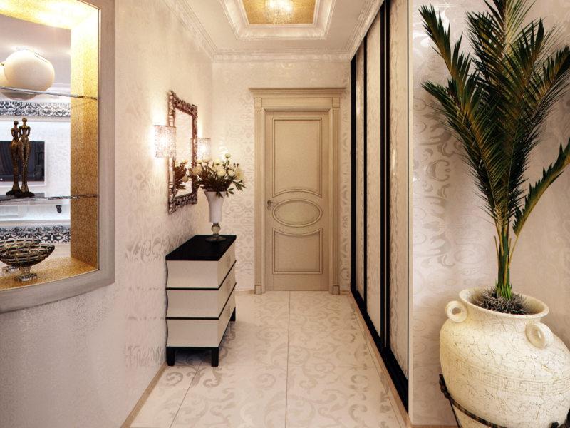 скандинавский дизайн коридора