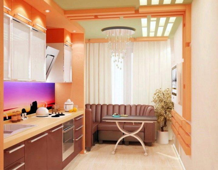 шикарная кухня с балконом