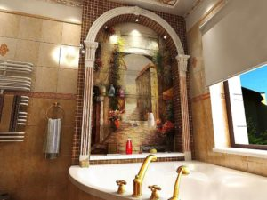 Туалет от Версаче римская мозаика