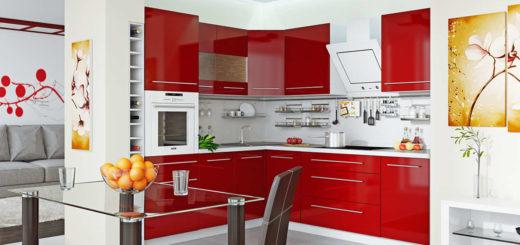 интерьер кухонной обстановки