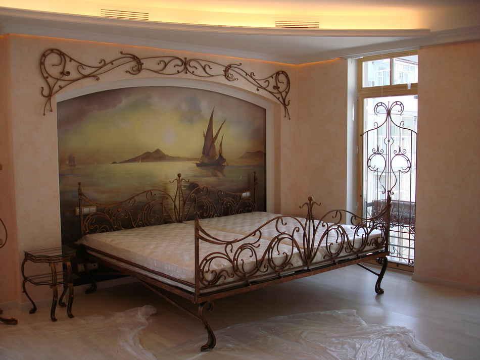 Живописное оформление стен в интерьере