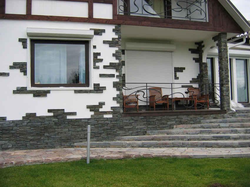 Фасады из натурального известняка