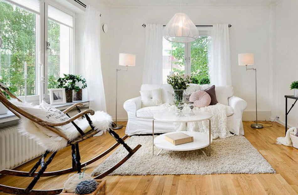 Скандинавский интерьер и мебель