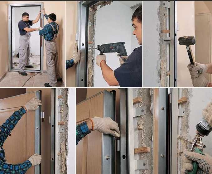 установка дверного полотна своими руками.