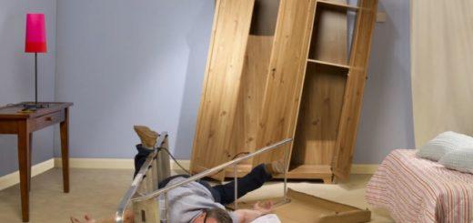 Шкаф собирали