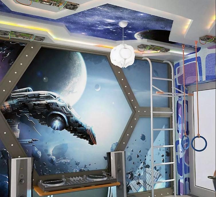 Детская комната для мальчика: Космический Полет